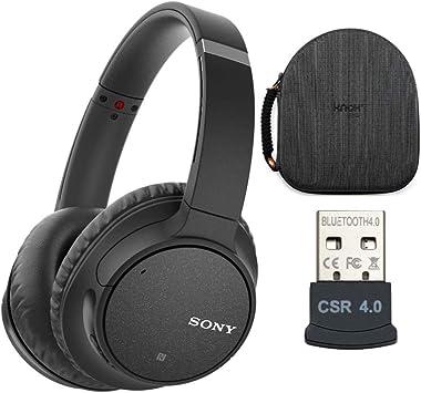 Sony WH-CH700N - Auriculares inalámbricos de cancelación de ruido, color negro (WHCH700N/B) con funda: Amazon.es: Electrónica