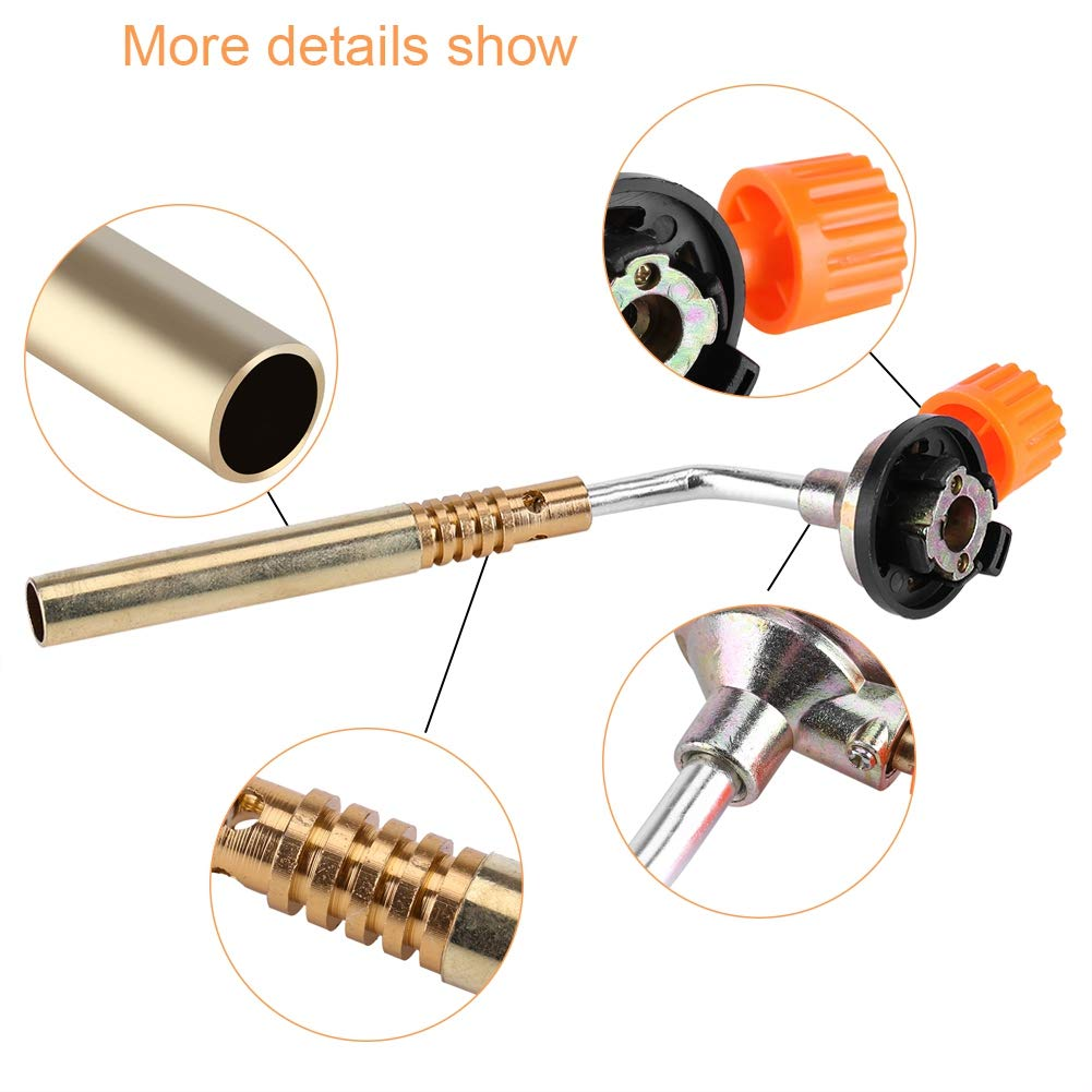 Flame Torch Head Flamethrower Burner Butane Gas Blow Torch Gas Torch Hand Ignition Torch for Camping//Welding//BBQ//Cooking//Manual Ignition