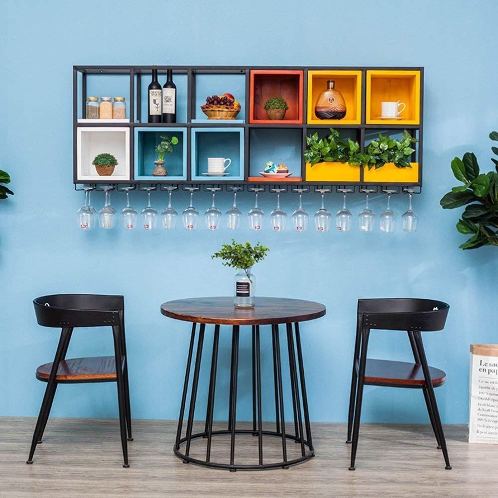 XixuanStore リビングルームのワインラック、レストランのワインラック、装飾的なワインラック、ワインラック鍛造アイアンウォールカップホルダー無垢材の吊り下げスペース (Color : 90cm*30cm*64cm) B07P8Z5HH3 90cm*30cm*64cm