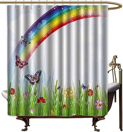 Godves Cortinas para mampara de Ducha, decoración de arcoíris ...