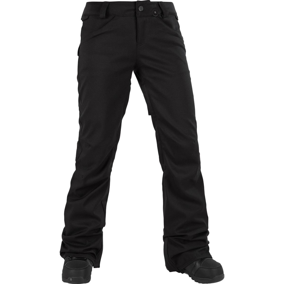 Volcom Junior's Species Stretch 2 Layer Shell Snow Pant, Black, Large