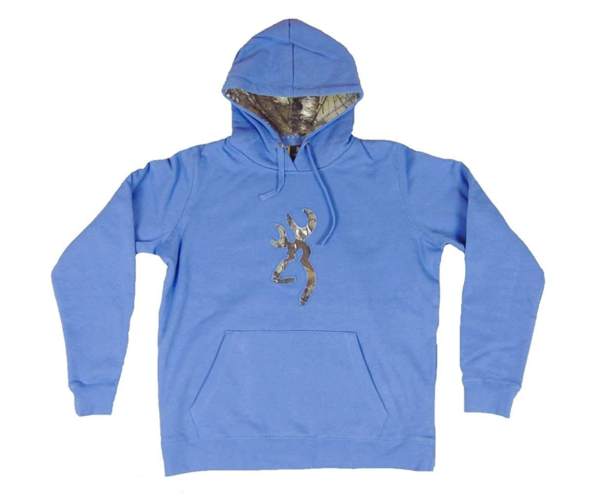 60274fc380a45 Womens Browning Buckmark Hoodie Realtree Xtra Camo Sweatshirt Cornflower at  Amazon Women's Clothing store: