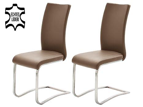2x Schwingstuhl Arco Polsterstuhl Freischwinger verschiedene Farben