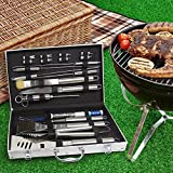 COMPLETE PREMIUM 21 pce GRILL SET with CASE from Aristocrat Homewares - Includes Meat Thermometer and Meat Injector Set- Nothing else to buy!