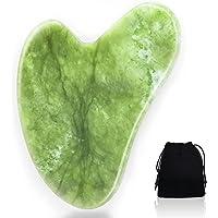 Gua Sha kamień do masażu z jadeitu, naturalne narzędzie do pielęgnacji twarzy, guasha Board Scraping, narzędzie do…