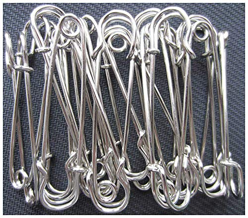 - LeBeila Large Safety Pins, Strong Blanket Pins in Bulk Heavy Duty and Stainless Steel & Sharp (20pcs, Bright Silver)