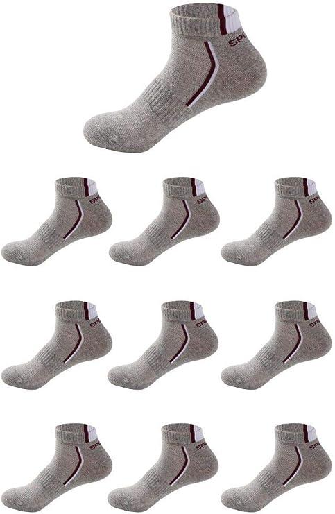Budermmy Lot de 5 ou 10 paires Femme Chaussettes de sport Homme chaussettes courtes basses respirantes
