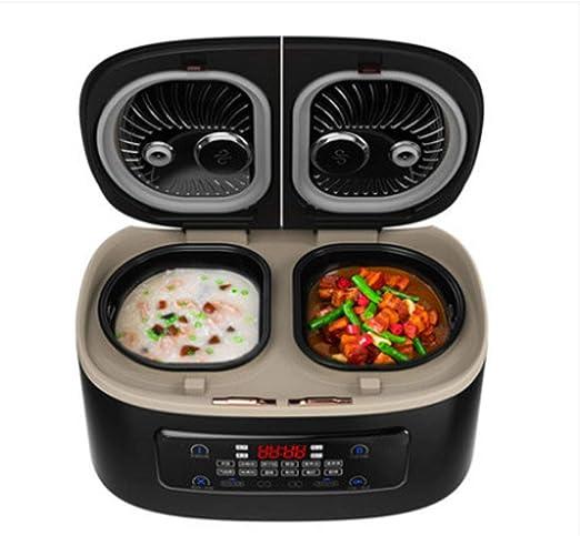 SILENTLY Cocina De Arroz 5L De Gran Capacidad, Vesícula Biliar Doble/Hirviendo Vapor/Una Cocción Cuatro Sabor Olla Hogar De Múltiples Funciones Inteligente: Amazon.es