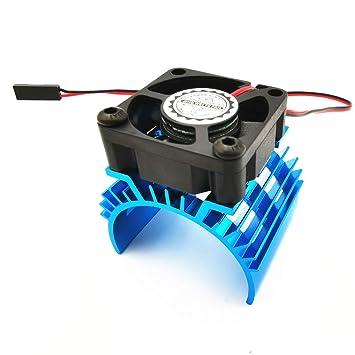 Motorkühlung Kühler Kühlkörper mit 5V Lüfter für RC Auto