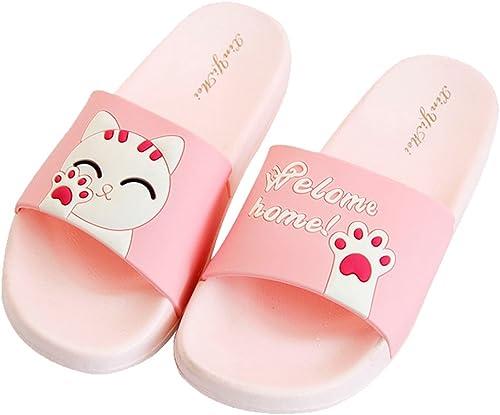 Cattior Summer Pink Girls Shower Bath Indoor Slippers Beach Slide Sandals Toddler Little Kid