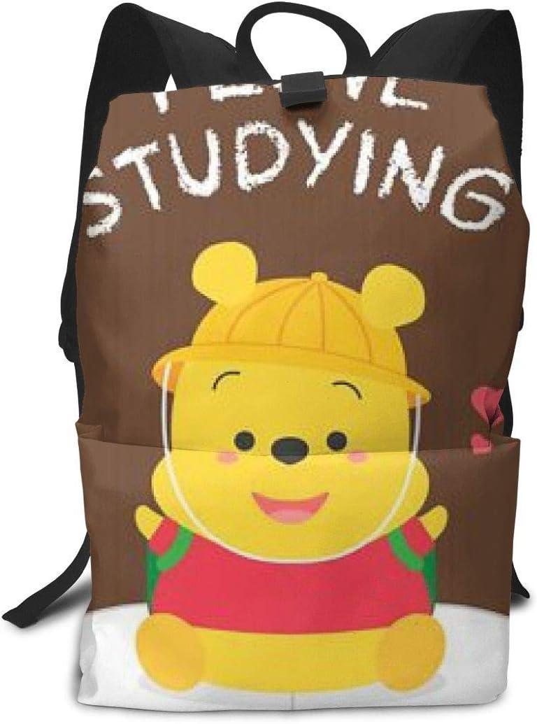 Boweike Lightweight Adult Backpack Briefcase Laptop Shoulder Bag Winnie Love Studing Just Kidding Classic Basic Daypack Bag