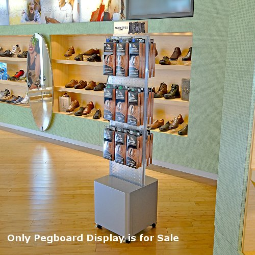 New Clear Pegboard Floor Stand on Tall Studio Base 13.5''W x 44'' H