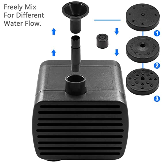 Amazon.com : 1.4 W Birdbath Fountain, maxin Solar Power Water Pump Panel Kit Submersible Water Pump for Bird Bath, Fish Tank, Small Pond, Garden Decoration.