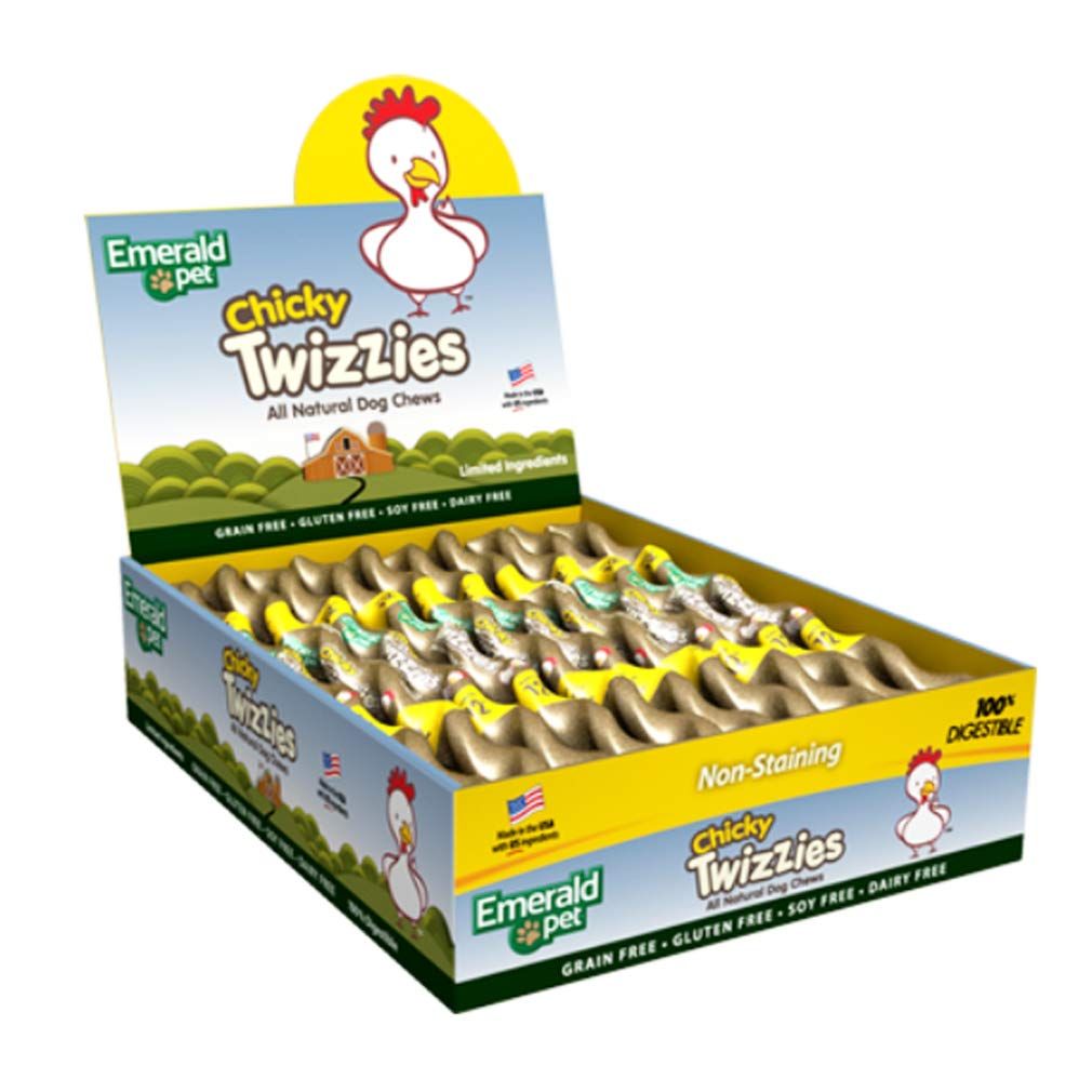 Emerald Pet Grain Free Chicken Chicky Twizzies All Natural Chews by Emerald Pet