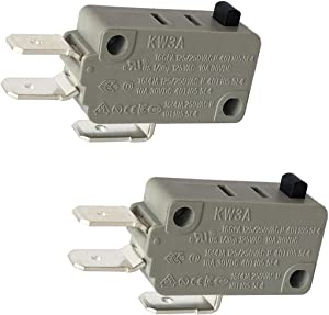 LONYE KW3A-16Z0-A200-76 Microwave Oven Door Switch 16A 125/250VAC 40T105(Normally Open & Normally Closed)(Pack of 2)
