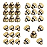 """EONBON 32pcs/Pack 0.016"""" Orifice (0.4mm) Thread 10/24 UNC Low Pressure Water Spray Mist Nozzle, Brass Misting Nozzles Water Hose Nozzles for Greenhouse, Landscaping, Dust Control, Outdoor Cooling System"""