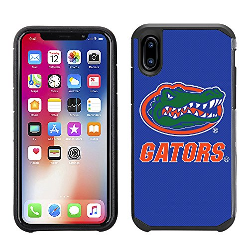 Prime Brands Group Textured Team Color Cell Phone Case for Apple iPhone X - NCAA Licensed University of Florida Gators