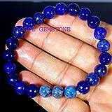 Lapis Lazuli, Black Lava Stone Bracelet, 8 mm Beads, Meditation Bracelet, UNISEX