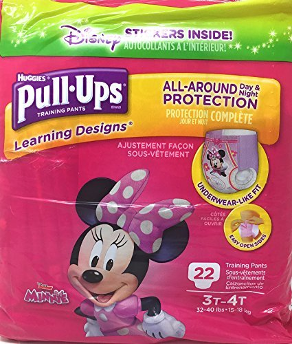 (Pull-Ups Learning Designs Training Pants for Girls, 3T-4T, 22 count)