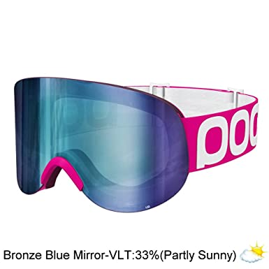 698f43ed2ca POC LID - Fluorescent Pink - One Size - Super wide ski and snowboard goggle   Amazon.co.uk  Clothing