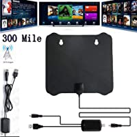 Rabusion 300 Mile Range Antenna TV Digital HD Skywire 4K Antena HDTV 1080p with Amplifier