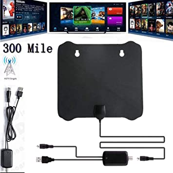 New 300 Mile Range Antenna TV Digital HD Skywire 4K Antena Digital HDTV 1080p