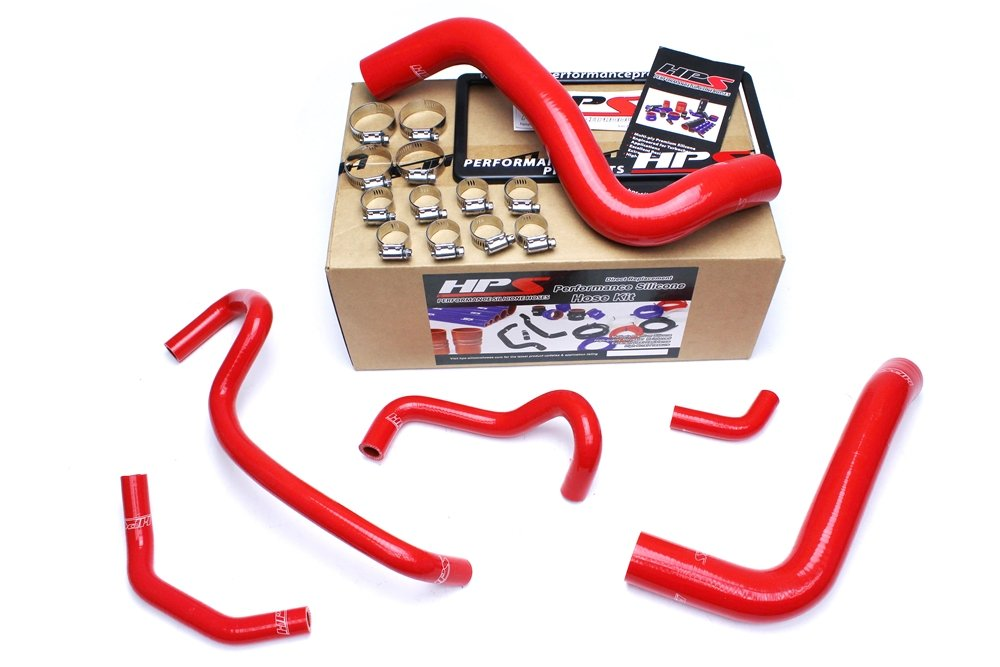 HPS 57-1467-RED Silicone Radiator and Heater Hose Kit Coolant by HPS (Image #2)