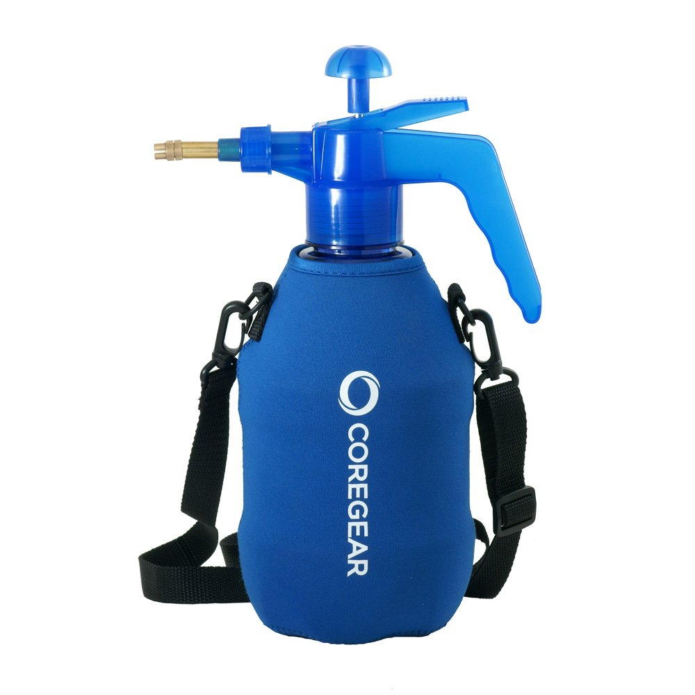 COREGEAR (Ultra Cool XLS USA Misters 1.5 Liter Mister & Sprayer Personal Water Pump with Full Neoprene Jacket and Built-in Carrying Strap (Blue)