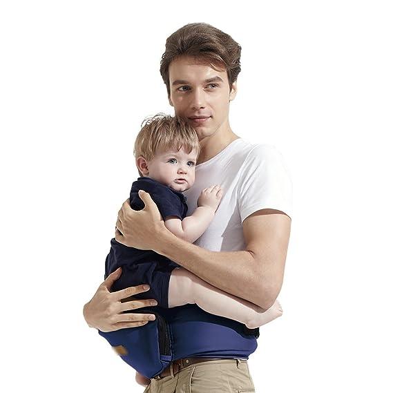 4f2d27e8b Azul Oscuro Cadera asiento bebé portador bebamour ligero del niño Cintura  Carier Bebés