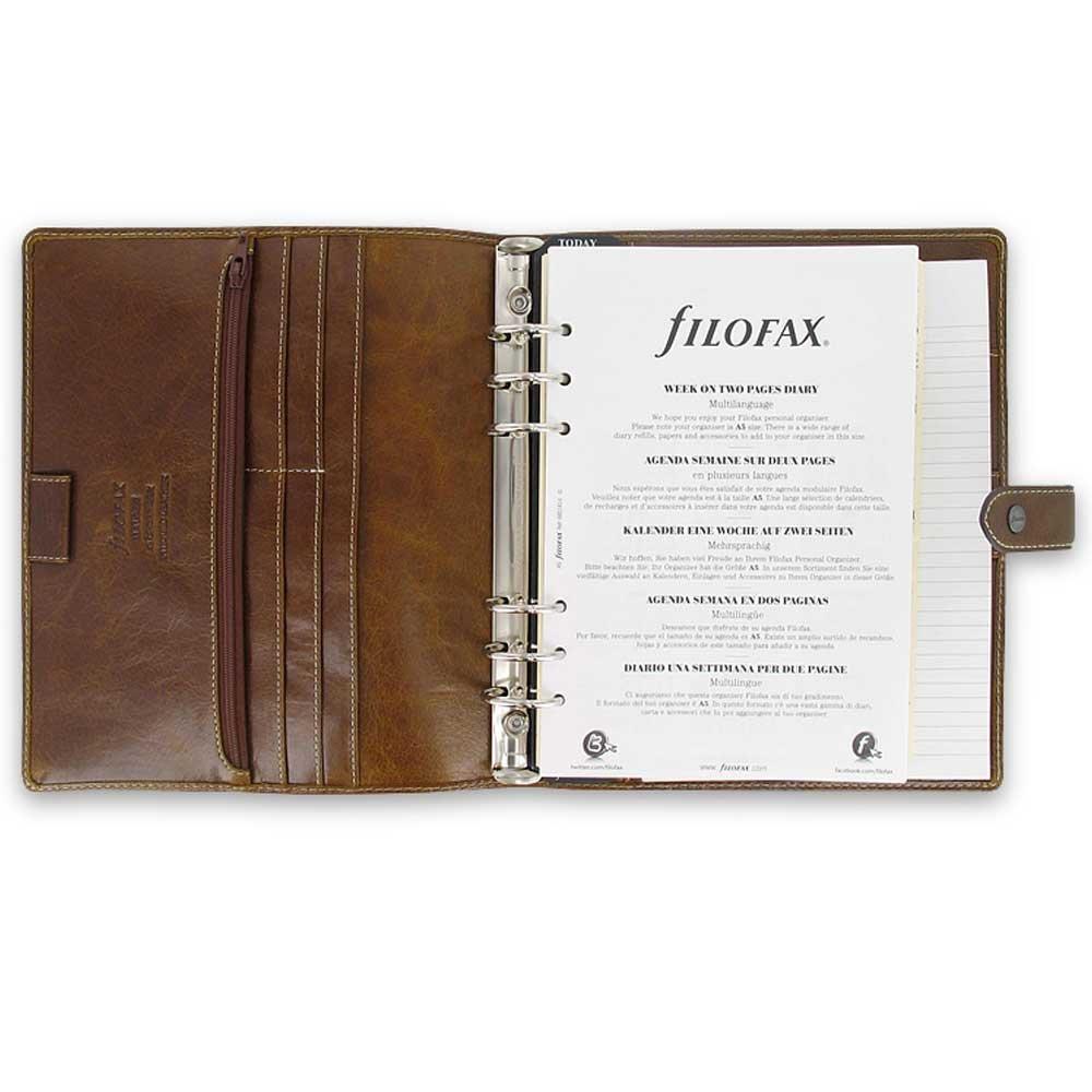 Filofax Leather A5 size Organizer Agenda Calendar Ochre 2016 Malden (025847)