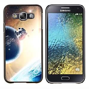 LECELL--Funda protectora / Cubierta / Piel For Samsung Galaxy E5 E500 -- Planeta & Rock Cinturón --