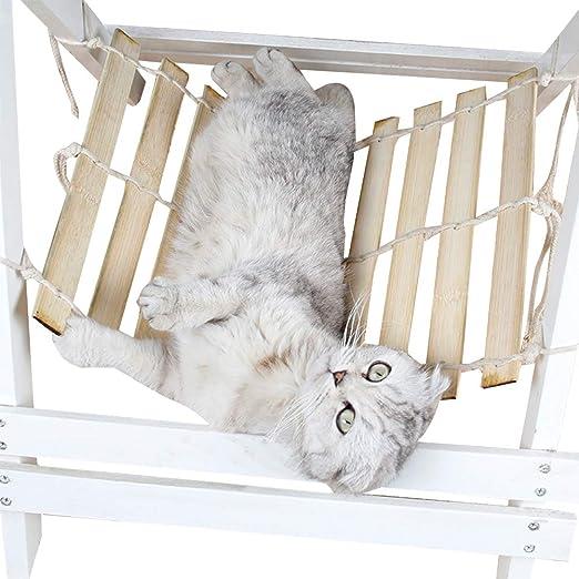 ZuckerTi Cool - Cama para Gatos de bambú, Tienda para Gatos, cojín para Gatos, Cesta, Cama para Animales, Gatos, Juguete Interactivo para Gatos: Amazon.es: Productos para mascotas