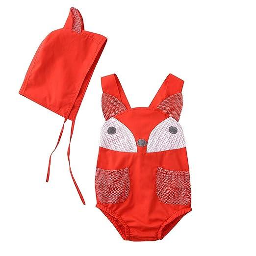 Amazon.com: Toddler Boy Girl Sleeveless Stereo Cartoon Fox ...