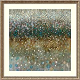 Amanti Art Framed Art Print 'Abstract Rain' by Danhui Nai: Outer Size x 34'' x