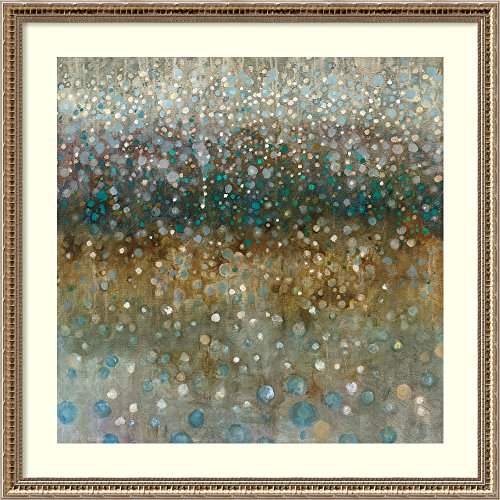 Amanti Art Framed Art Print 'Abstract Rain' by Danhui Nai: Outer Size x 34'' x by Amanti Art