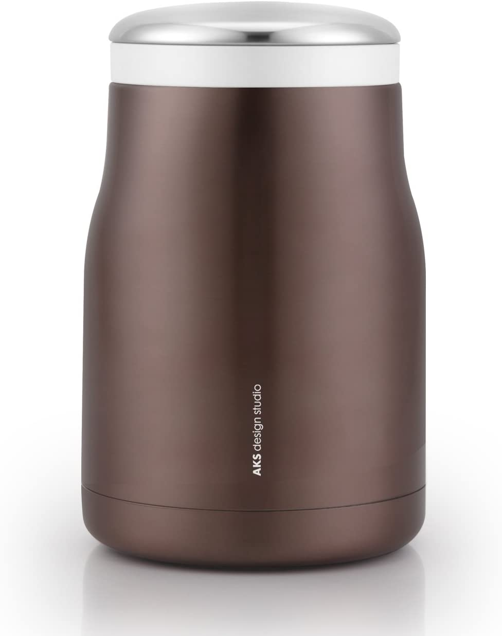 AKS Vacuum Insulated Stainless Steel Food Jar Soup Thermos, 16 Oz with a carrying bag (Brown)