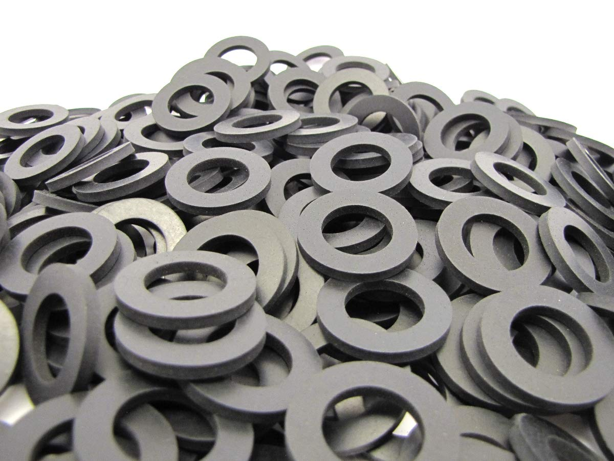 (100) Premium Quality EPDM Rubber Washers - 1 1/4'' OD X 3/4'' ID X 1/8'' Thickness - Rubber Washers
