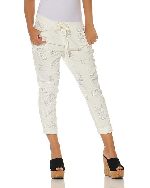 29c5879a46 ZARMEXX Pantalones para Mujer Pantalones Informales de algodón 1341 Ropa  Casual para Hombres Lavados Blanco Talla