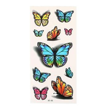 temporaires efecto 3d pegatina para tatuaje mariposas impermeable ...