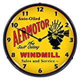 Aermotor Windmill Lighted Clock