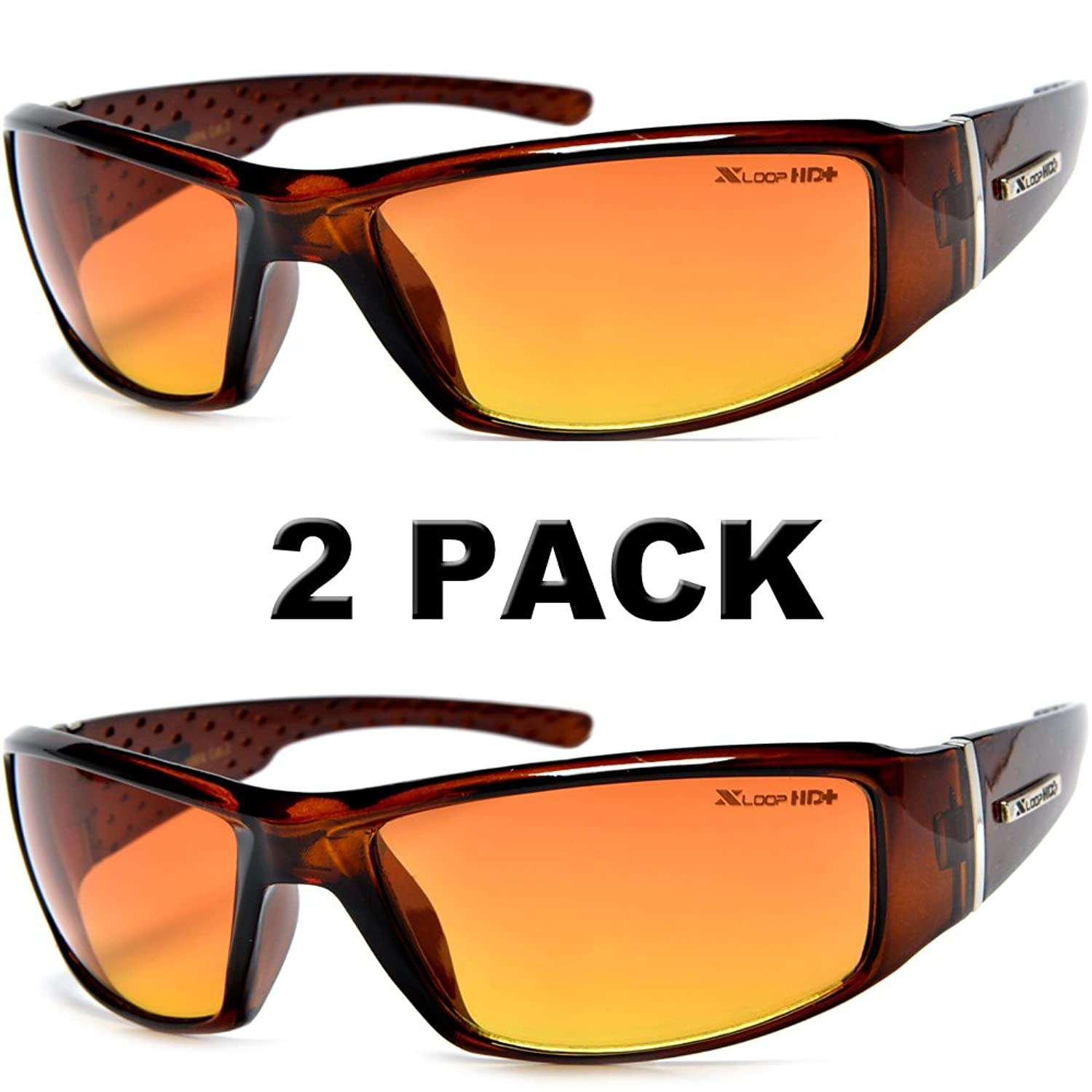 74adf3c332 HD Vision Anti-Glare Driving Glasses X-Loop 2 PACK w  Free Micro ...