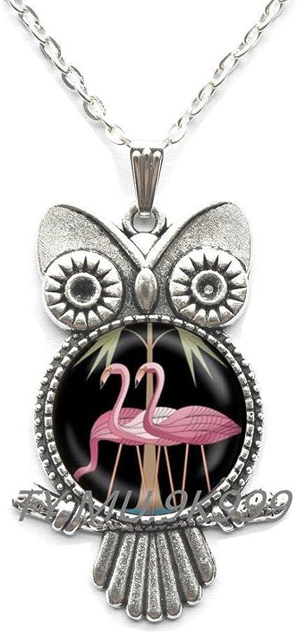 Yao0dianxku Pink Flamingo Necklace Florida Flamingo Pendant Flamingo Jewelry Necklace Flamingo Bird Necklace Flamingo Bird Charm.Y041