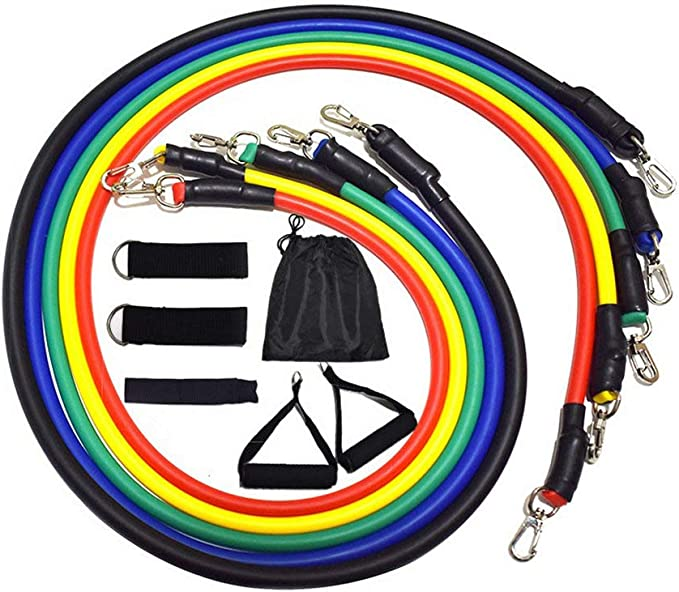 Resistance Bands for Home Fitness Expander Sport Workout Training Exercise 11pcs