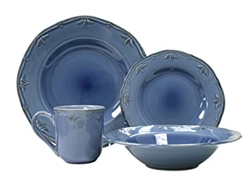 Amazon.com | Thomson Pottery Sicily Blue 16 PC Dinnerware Set ...