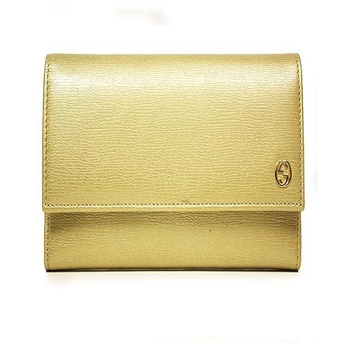Gucci 309704 Aqy0g 7100 - Cartera para hombre de Piel Mujer dorado dorado Small: Amazon.es: Zapatos y complementos