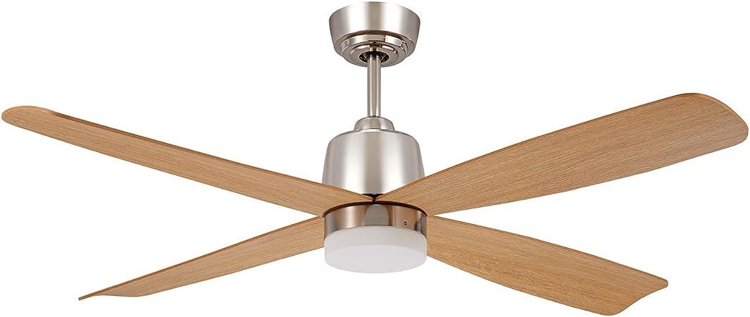 SULION Corvete Ventilador con Iluminación LED, 18 W, Haya, 132 x ...