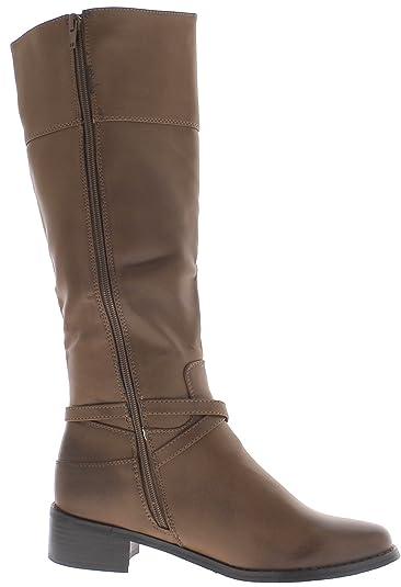 der Camel Stiefel Frauen mit Dicken Heels von 4,5 cm mit Dekorativen Klammern. - 39 Chaussmoi