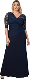 product image for Kiyonna Women's Plus Size Soiree Evening Gown