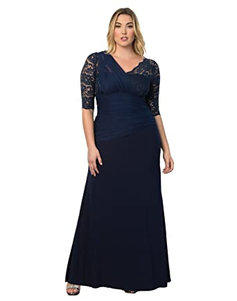 Plus size evening dress for women