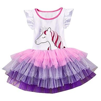 72520d38922bf LUBITY Robe de Princesse Fille